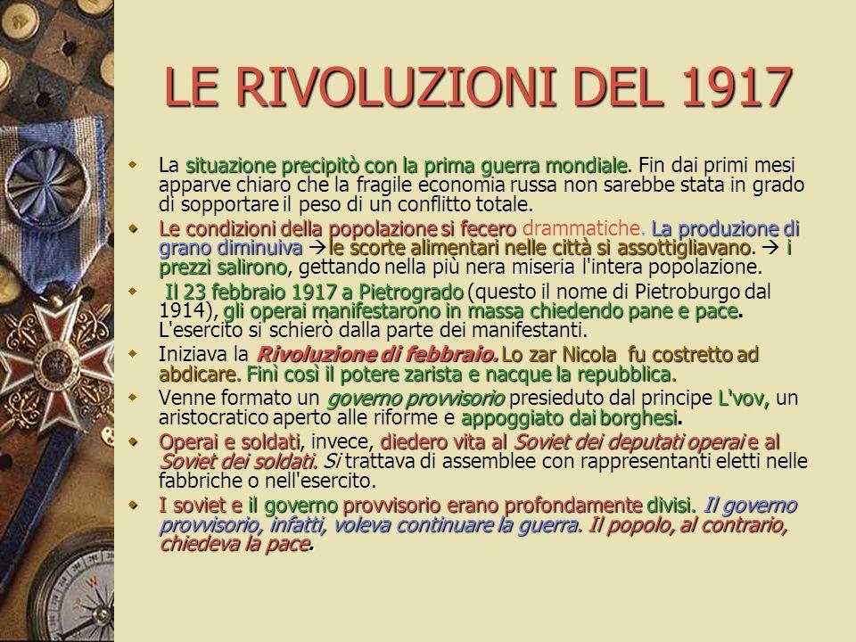 LE RIVOLUZIONI DEL 1917