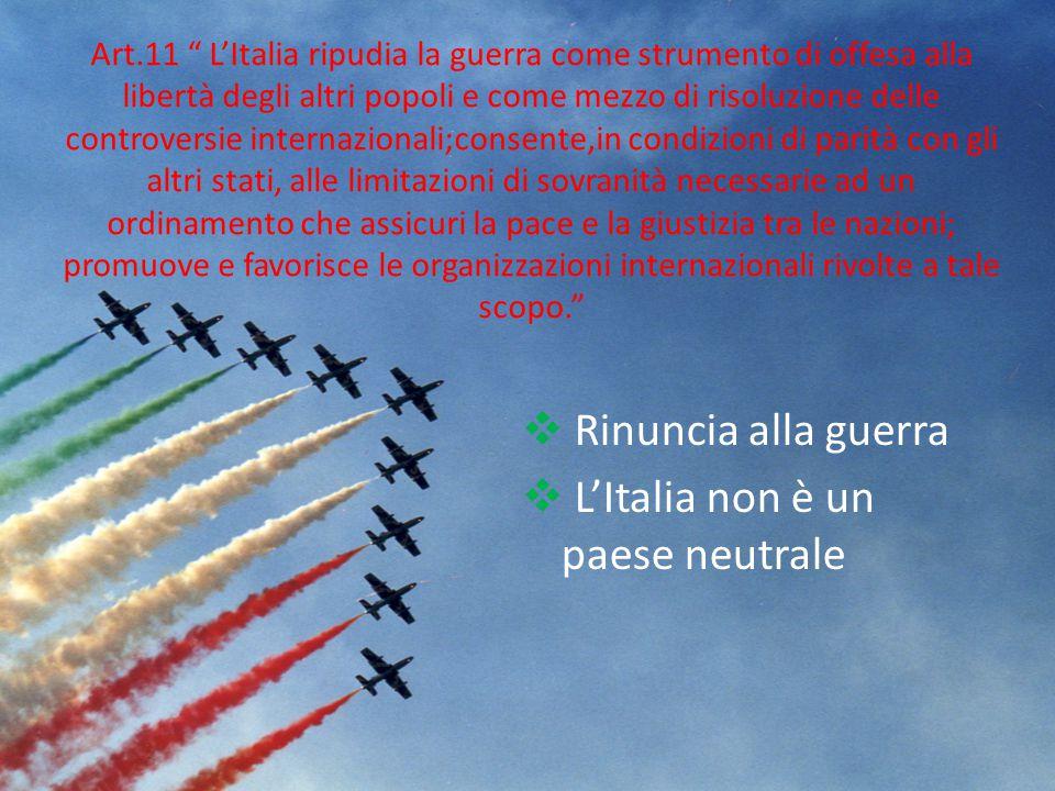 L'Italia non è un paese neutrale