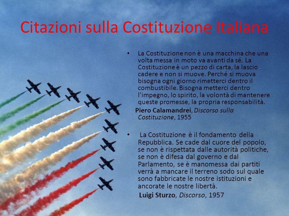 Citazioni sulla Costituzione Italiana