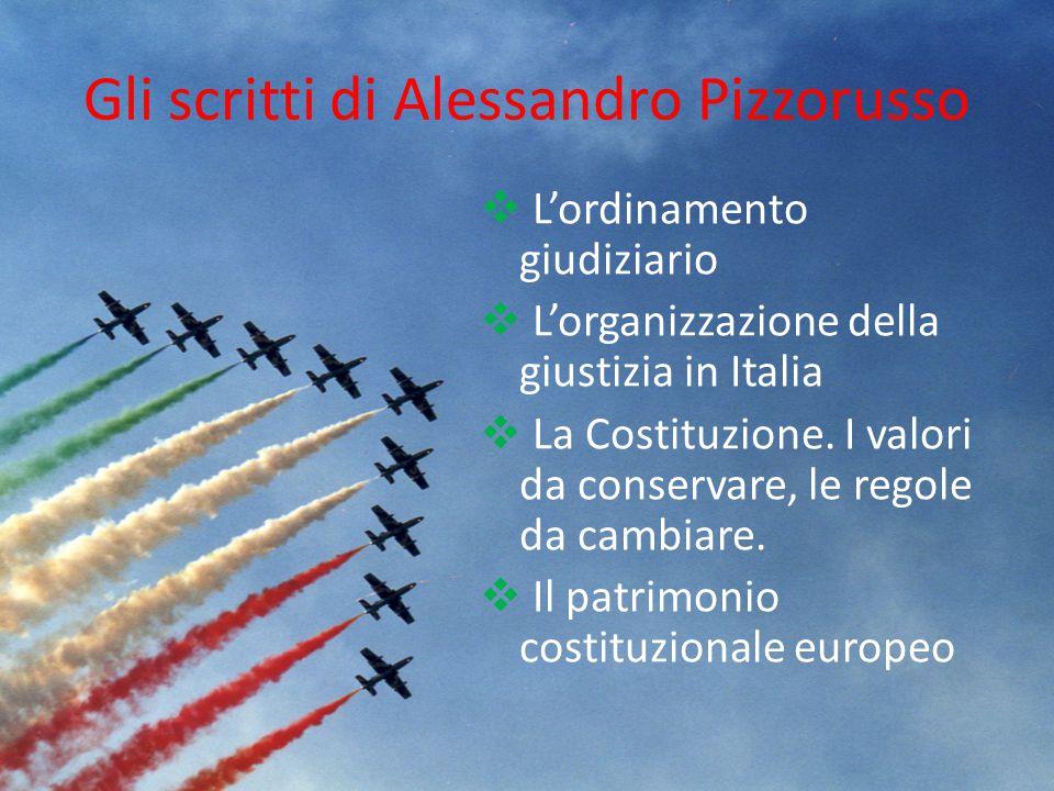 Gli scritti di Alessandro Pizzorusso