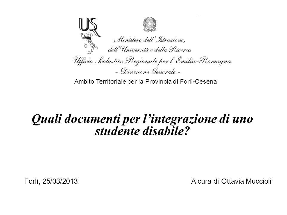 Quali documenti per l'integrazione di uno studente disabile