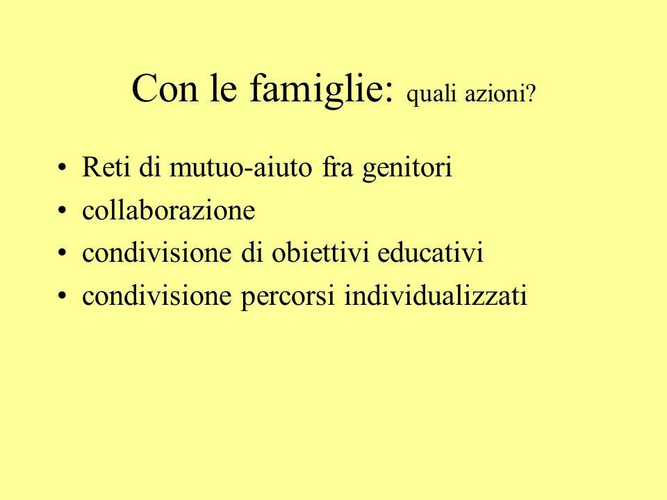 Con le famiglie: quali azioni