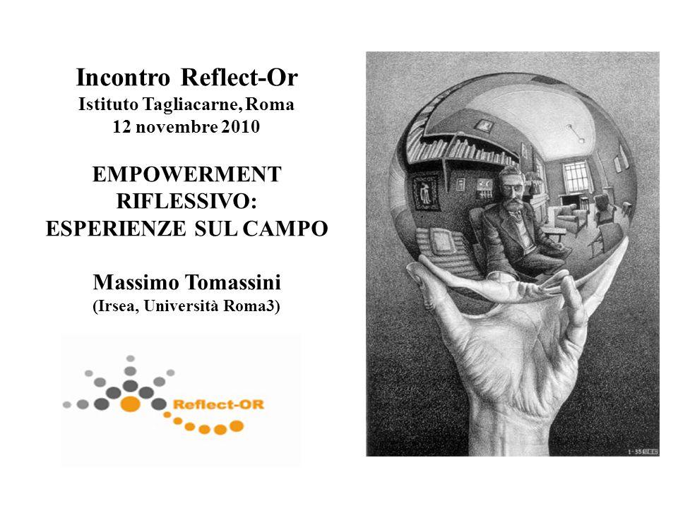 Incontro Reflect-Or EMPOWERMENT RIFLESSIVO: ESPERIENZE SUL CAMPO