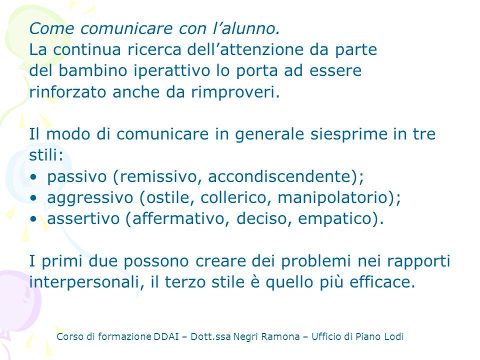 Come comunicare con l'alunno.