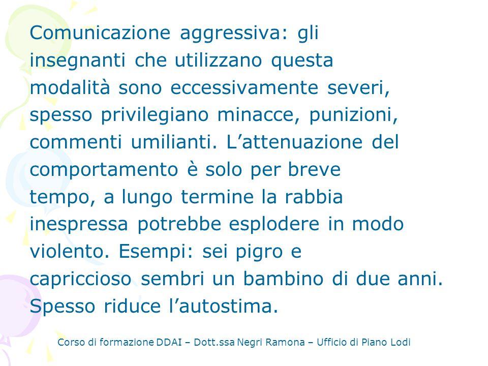 Comunicazione aggressiva: gli insegnanti che utilizzano questa