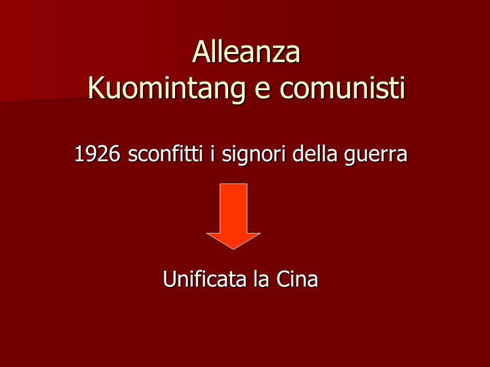 Alleanza Kuomintang e comunisti