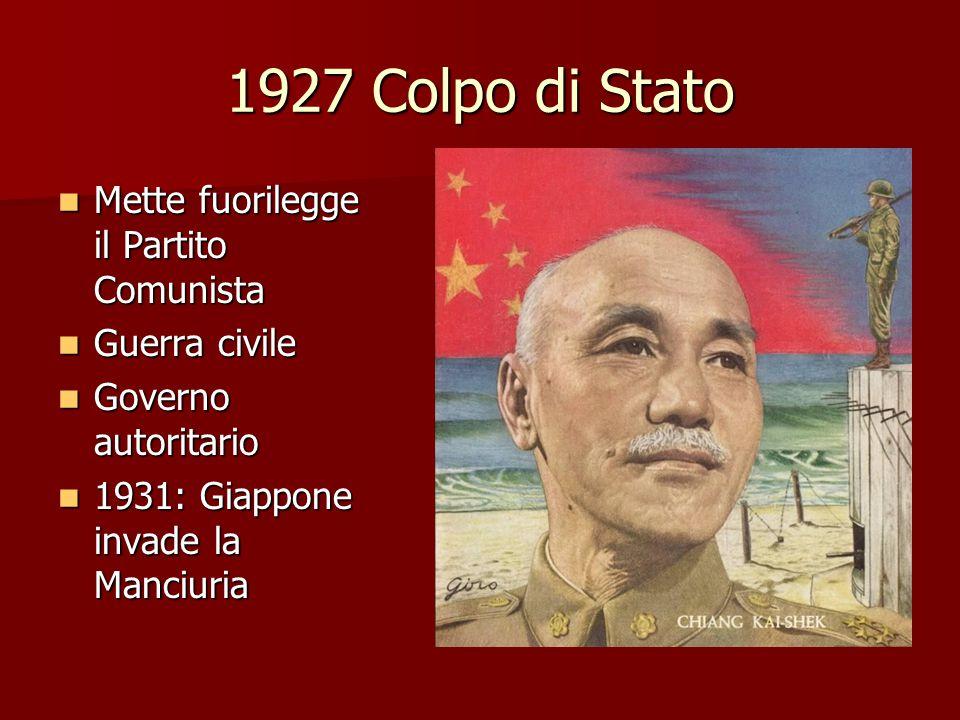 1927 Colpo di Stato Mette fuorilegge il Partito Comunista