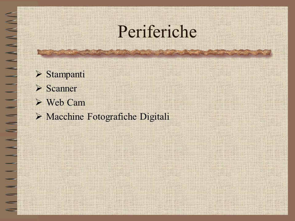 Periferiche Stampanti Scanner Web Cam Macchine Fotografiche Digitali