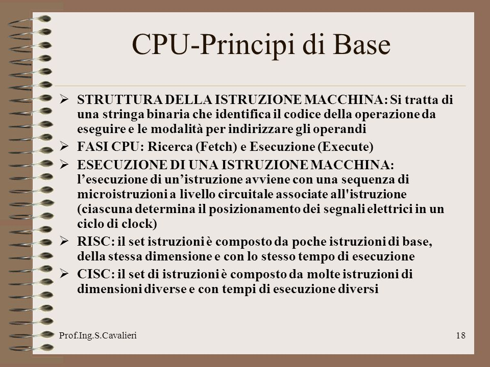 CPU-Principi di Base