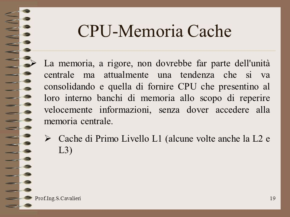 CPU-Memoria Cache
