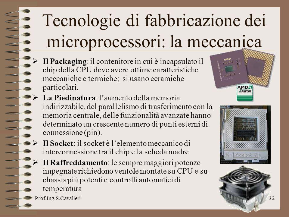 Tecnologie di fabbricazione dei microprocessori: la meccanica