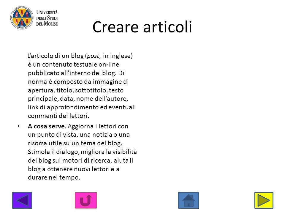 Creare articoli