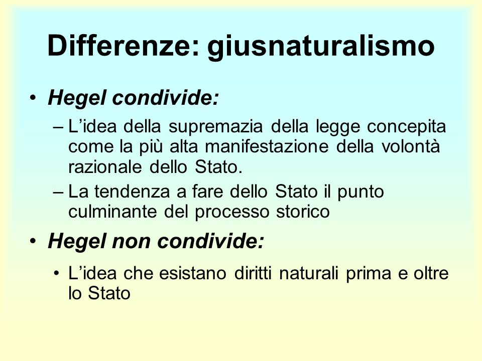 Differenze: giusnaturalismo