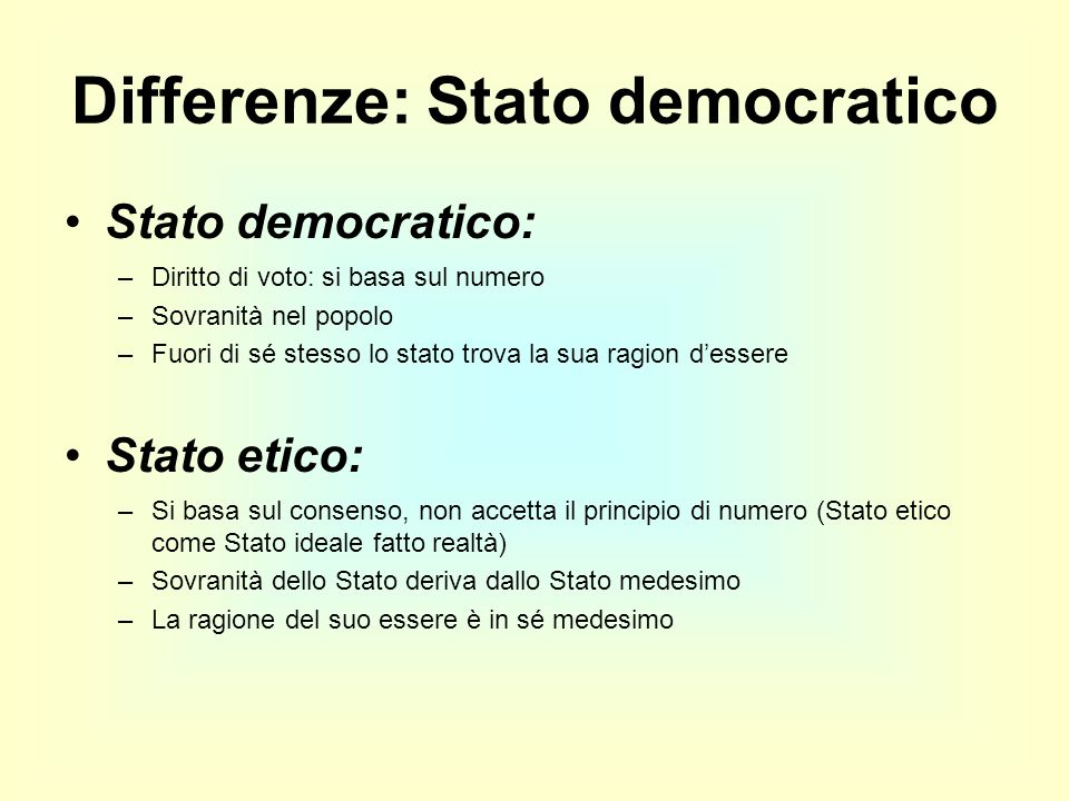 Differenze: Stato democratico