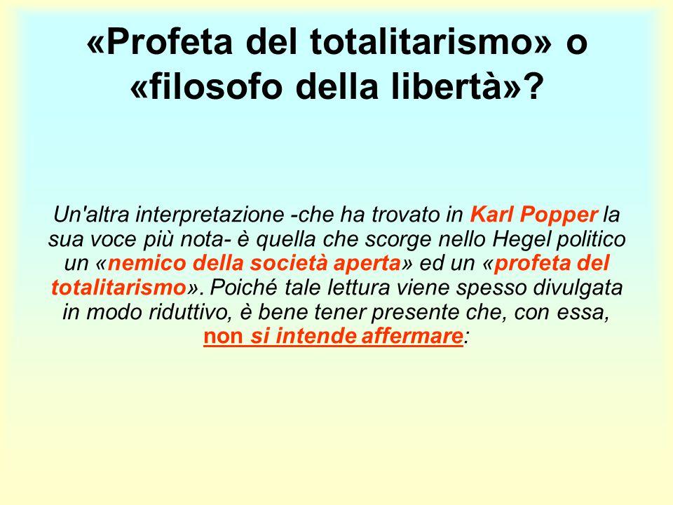 «Profeta del totalitarismo» o «filosofo della libertà»