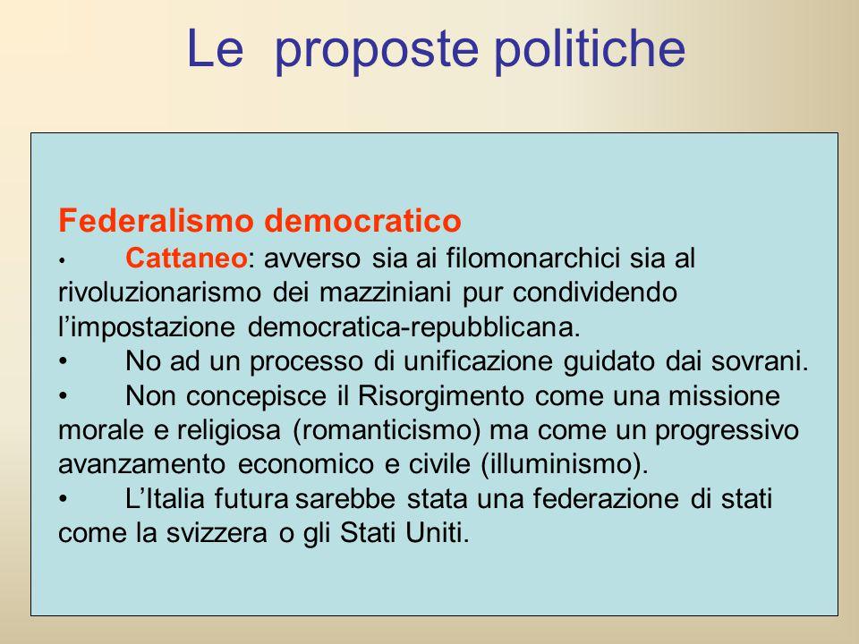 Le proposte politiche Federalismo democratico