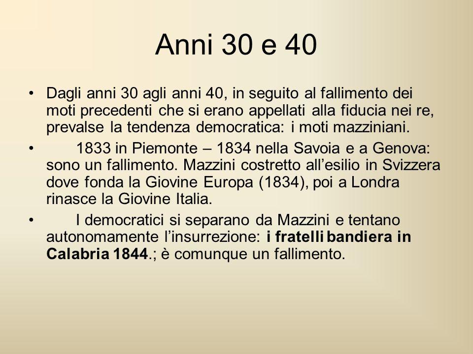 Anni 30 e 40