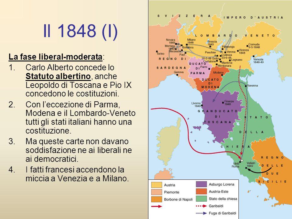 Il 1848 (I) La fase liberal-moderata: