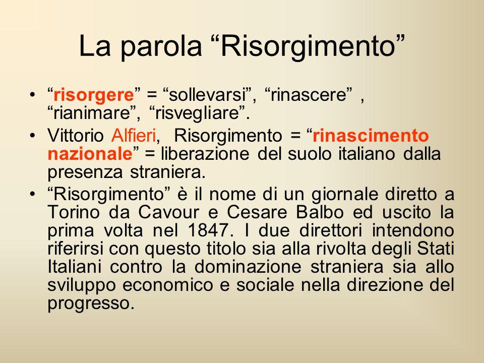 La parola Risorgimento