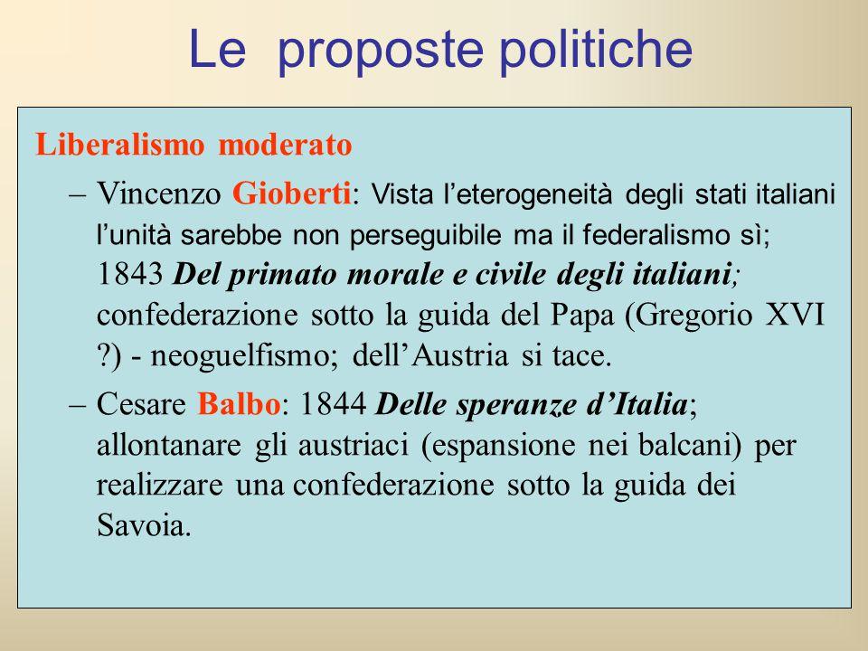 Le proposte politiche Liberalismo moderato