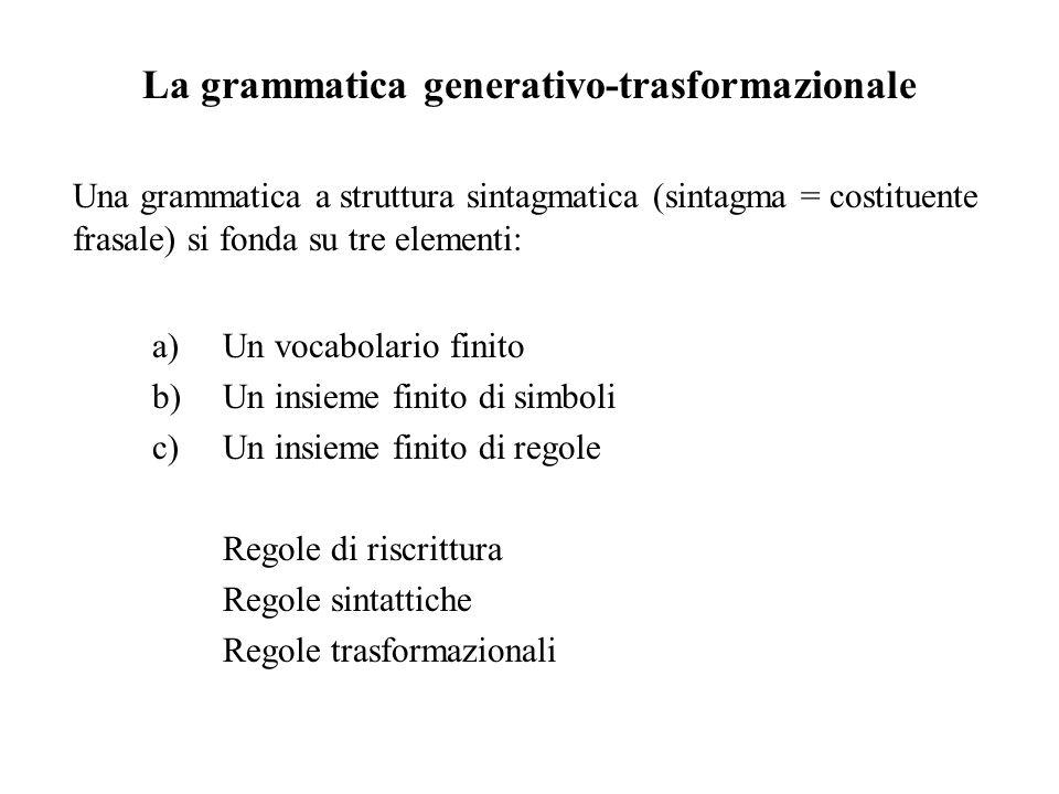 La grammatica generativo-trasformazionale