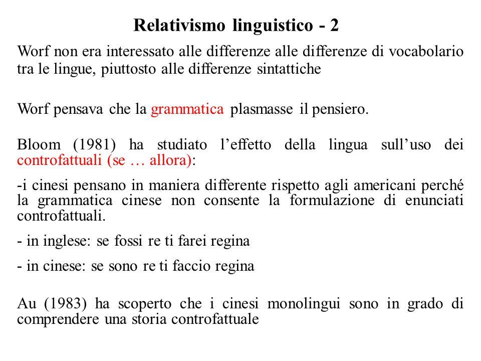 Relativismo linguistico - 2