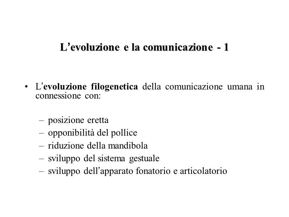 L'evoluzione e la comunicazione - 1