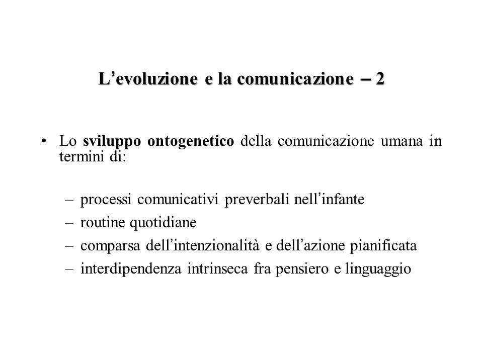 L'evoluzione e la comunicazione – 2