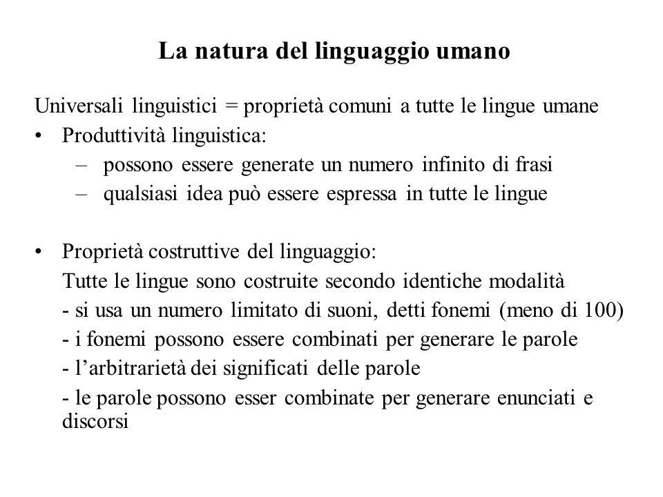La natura del linguaggio umano