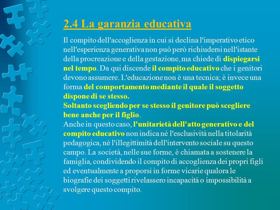 2.4 La garanzia educativa