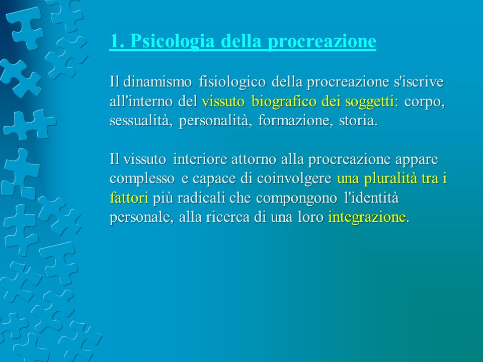 1. Psicologia della procreazione