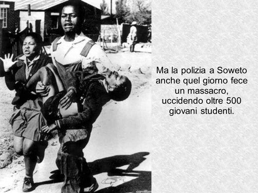 Ma la polizia a Soweto anche quel giorno fece un massacro,