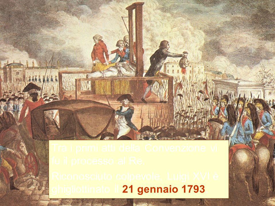 Tra i primi atti della Convenzione vi fu il processo al Re.
