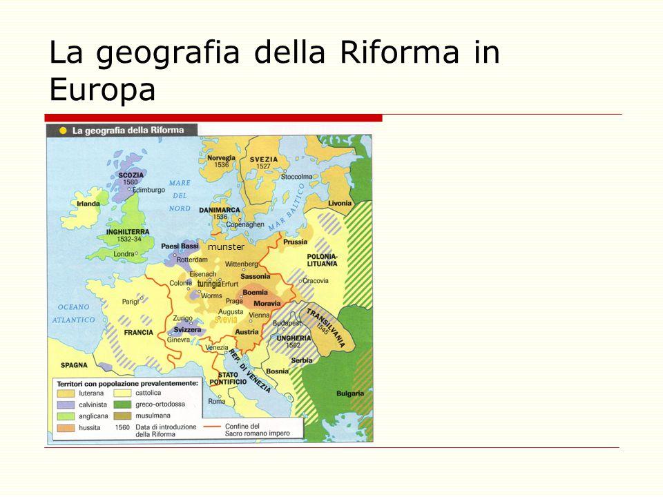 La geografia della Riforma in Europa