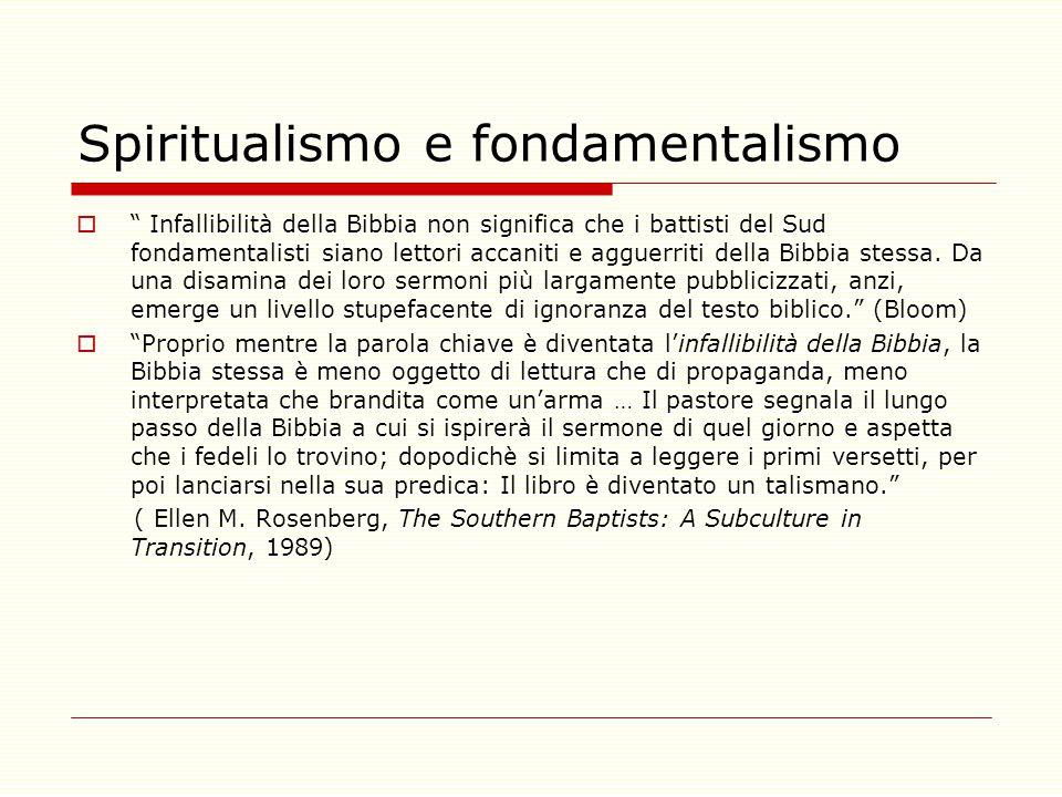 Spiritualismo e fondamentalismo