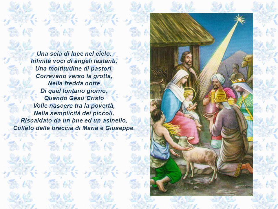 Cullato dalle braccia di Maria e Giuseppe.