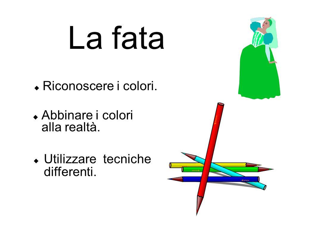 La fata Riconoscere i colori. Abbinare i colori alla realtà.