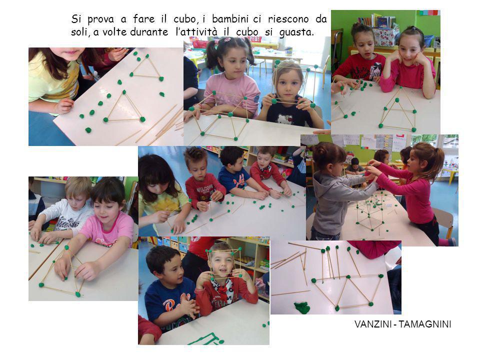 Si prova a fare il cubo, i bambini ci riescono da soli, a volte durante l'attività il cubo si guasta.
