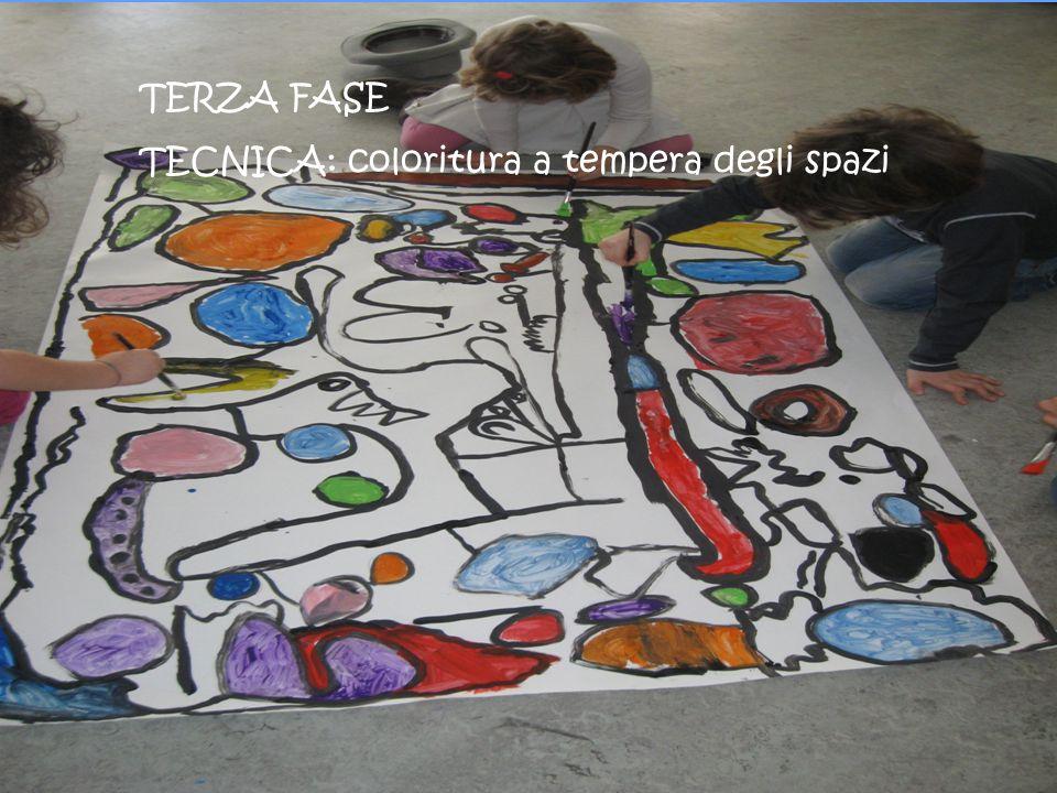 TERZA FASE TECNICA: coloritura a tempera degli spazi