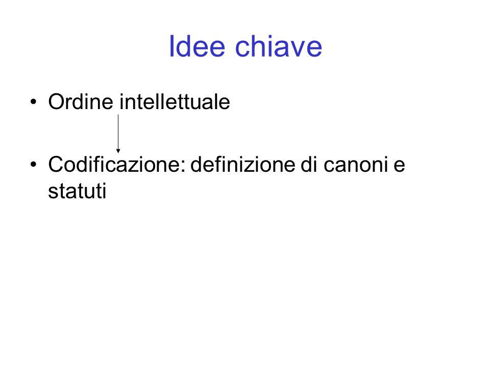 Idee chiave Ordine intellettuale