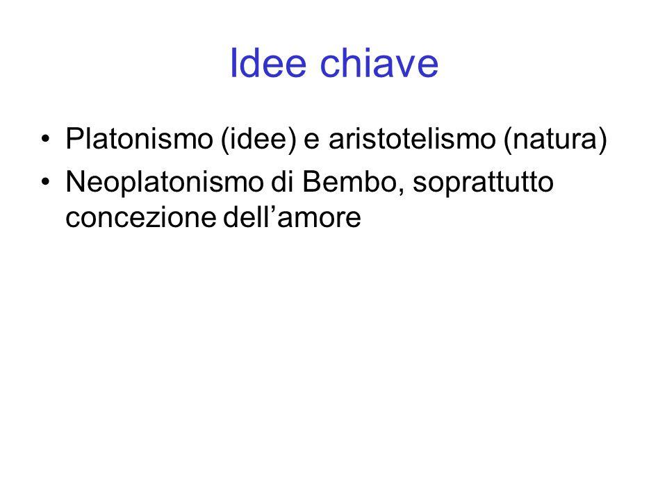Idee chiave Platonismo (idee) e aristotelismo (natura)
