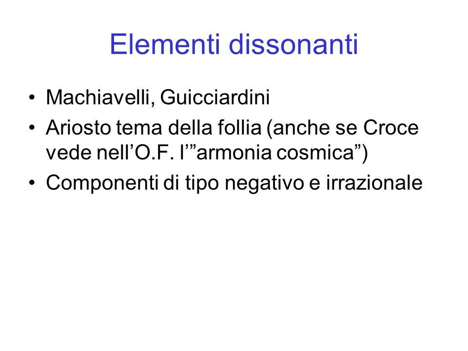 Elementi dissonanti Machiavelli, Guicciardini