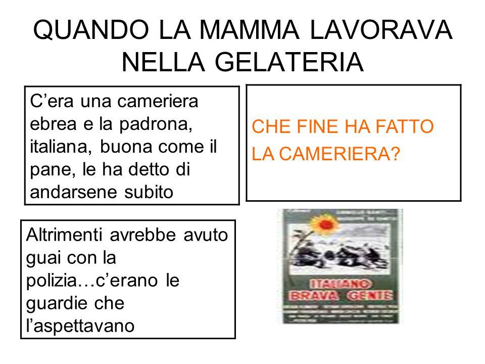 QUANDO LA MAMMA LAVORAVA NELLA GELATERIA