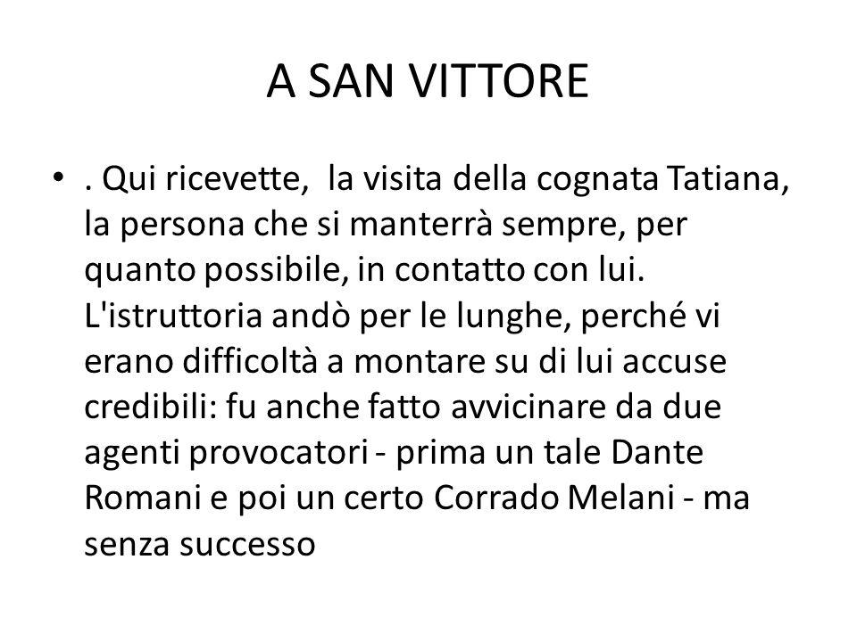 A SAN VITTORE