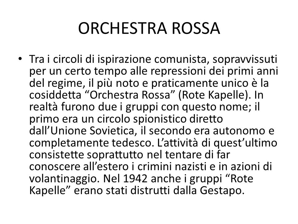 ORCHESTRA ROSSA
