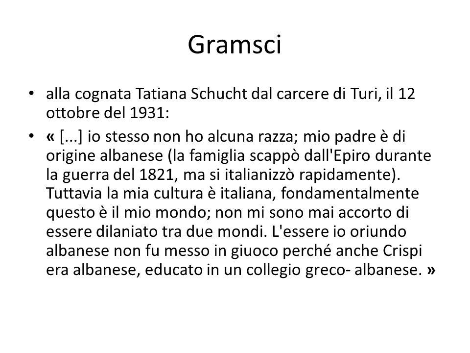 Gramsci alla cognata Tatiana Schucht dal carcere di Turi, il 12 ottobre del 1931: