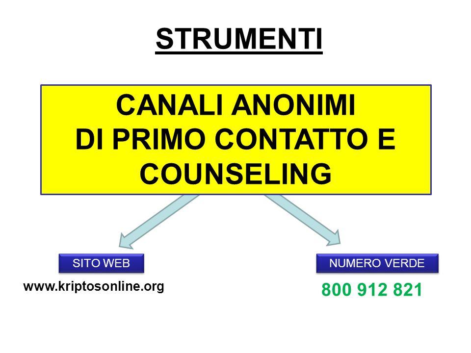 DI PRIMO CONTATTO E COUNSELING