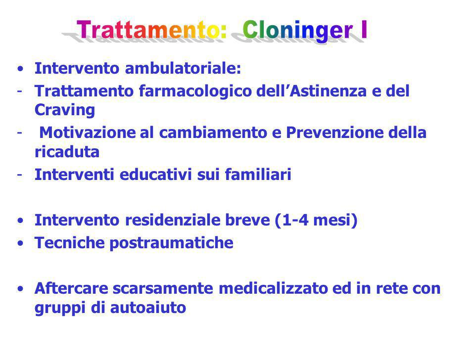 Trattamento: Cloninger I