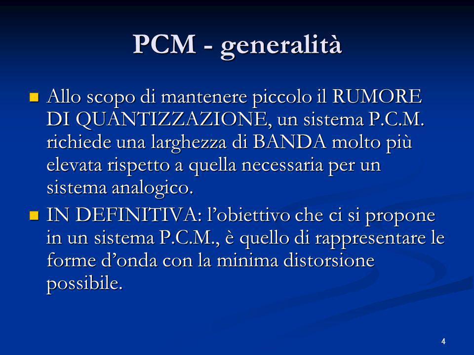 PCM - generalità