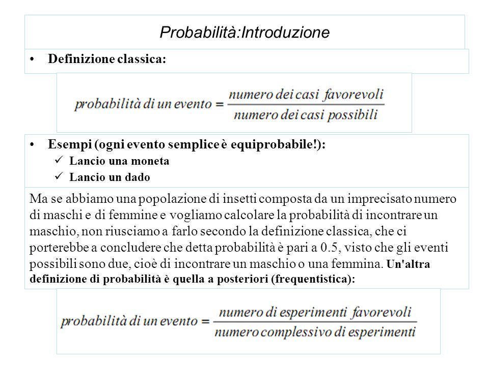 Probabilità:Introduzione
